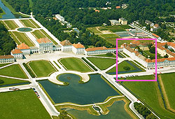 Picture: Aerial picture of Nymphenburg Palace and Park